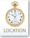 Location logo with watch