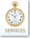 Services logo with watch